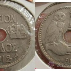 Monedas antiguas de Europa: GRECIA 10 LEPTA 1912. Lote 26050905