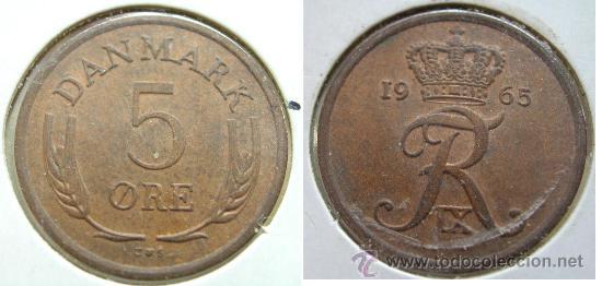 DINAMARCA 5 ORE 1965 (Numismática - Extranjeras - Europa)