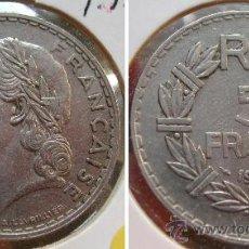 Monedas antiguas de Europa: FRANCIA 5 FRANCOS 1933. Lote 26332170