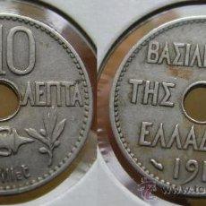 Monedas antiguas de Europa: GRECIA 10 LEPTA 1912. Lote 26352071