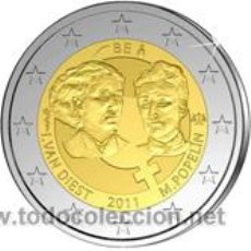 Monedas antiguas de Europa: MONEDA CONMEMORATIVA DE 2 EUROS, BELGICA 2011. Lote 58688082