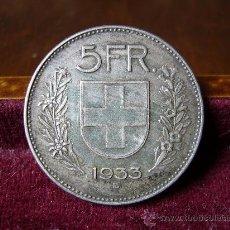 Monedas antiguas de Europa: SUIZA - 5 FRANCOS 1933. Lote 27167589