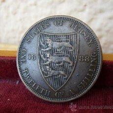 Monedas antiguas de Europa: JERSEY - 1/12 CHELIN 1888. Lote 27629523