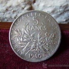 Monete antiche di Europa: FRANCIA - 5 FRANCOS 1960. Lote 28020988