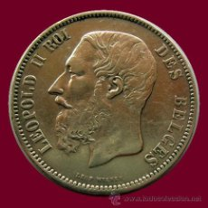 Monedas antiguas de Europa: BELGICA . LEOPOLD II . 5 FRANCS 1868. Lote 28112772