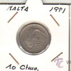 Monedas antiguas de Europa: MALTA - 1991 ( 1 - 10 - 50 CÉNTIMOS ). Lote 28159615