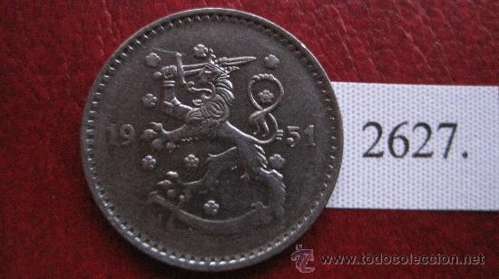 FINLANDIA 1 MARCO 1951 H (Numismática - Extranjeras - Europa)