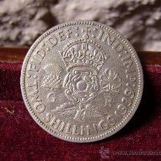 Monedas antiguas de Europa: INGLATERRA - 2 SHILLINGS 1939 - GEORGE VI. Lote 28659420