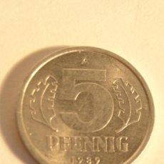 Monedas antiguas de Europa: 5 PFENNIG 1989 A DDR. Lote 28814843