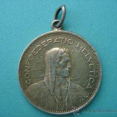 Monedas antiguas de Europa: 5 FR 1932 CONFOEDERATIO HELVETICA EN PLATA. 3 CMS DE DIÁMETRO Y 16 GR DE PESO. Lote 29192965