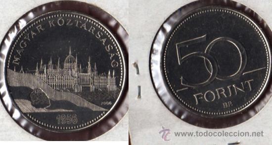 HUNGRIA 50 FORINT 2006, NIQUEL REBAJADA (Numismática - Extranjeras - Europa)