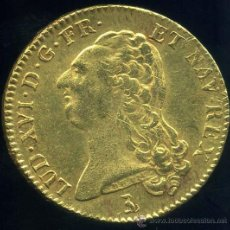 Monedas antiguas de Europa: FRANCIA - DOBLE LUIS DE ORO - LUIS XVI 1786 T (NANTES) . Lote 29382216