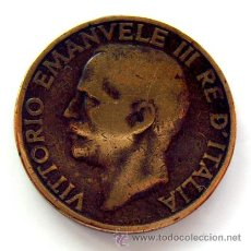 Monedas antiguas de Europa: MONEDAS DEL MUNDO . ITALIA . 10 CENTESIMI , 1928 . RARA. Lote 29709917