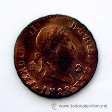 Monedas antiguas de Europa: MONEDAS DEL MUNDO . ESPAÑA . FERNANDO VII . 2 MARAVEDIS 1828. Lote 29740737
