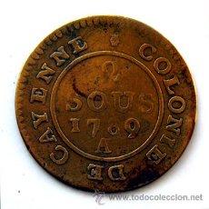 Monedas antiguas de Europa: MONEDAS DEL MUNDO . FRANCIA . LUIS XVI . 2 SOUS 1789-A. Lote 29914683