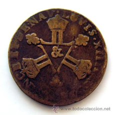 Monedas antiguas de Europa: MONEDAS DEL MUNDO . FRANCIA . LUIS XIV . 6 DENIERS 1711.AIX . ESCASA. Lote 29914736