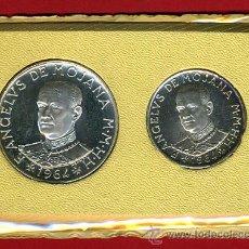 Monedas antiguas de Europa: ESTUCHE , SET, 2 MONEDAS ORDEN DE MALTA , 1 Y 2 ESCUDOS 1964 , PLATA , ANGELUS DE MOJANA , ORIGINAL. Lote 30088380