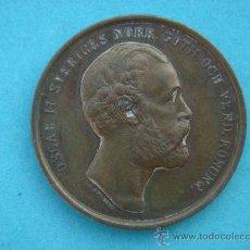 Monedas antiguas de Europa: MEDALLA CONMEMORATIVA EN BRONCE -OSCAR II SVERIGEN NORR. GOTH-. 3,15 CMS DIÁMETRO.. Lote 30156107