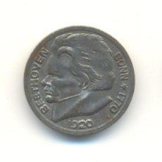 Monedas antiguas de Europa: 10 PFENING FICHA NOTGELD BONN ALEMANIA AÑO 1920 BUSTO DE BEETHOVEN EN SU 150 ANIVERSARIO. Lote 30258818