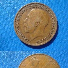 Monedas antiguas de Europa: MONEDA ONE PENNY, GEORGIUS V, REINO UNIDO, 1916. Lote 30285054