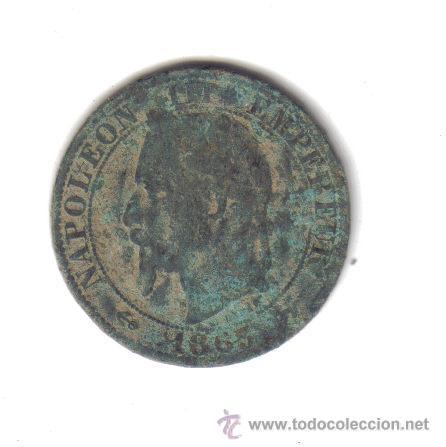 5 CENTIMOS CTS 1865 NAPOLÉON III BRONCE FRANCIA (Numismática - Extranjeras - Europa)