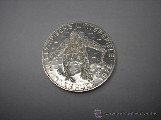 Monedas antiguas de Europa: 100 SHILLINGS DE PLATA DE AUSTRIA DE 1976, JUEGOS DE INVIERNO DE INNEBRUCK - Foto 2 - 30308768
