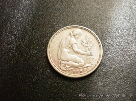 Alemania 50 Pfennig 1950 D Comprar Monedas Antiguas De Europa En