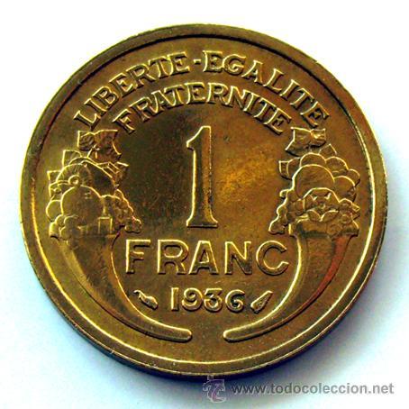 Monedas antiguas de Europa: MONEDAS DEL MUNDO . FRANCIA . 1 FRANC 1936 .. EBC - Foto 2 - 31092447