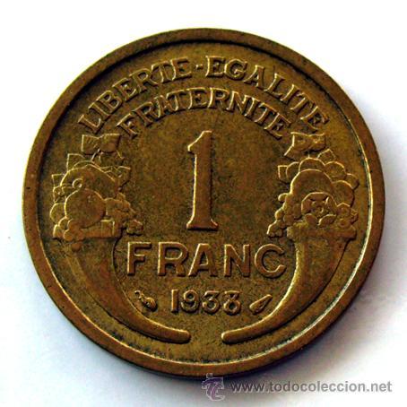 Monedas antiguas de Europa: MONEDAS DEL MUNDO . FRANCIA . 1 FRANC 1938 . SIN CIRCULAR - Foto 2 - 31092575