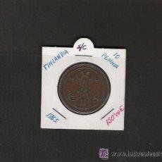 Monedas antiguas de Europa: .MAGNIFICA PIEZA DE FINLANDIA DE 10 PENNIA DE 1865 DE COBRE EBC. Lote 31189410