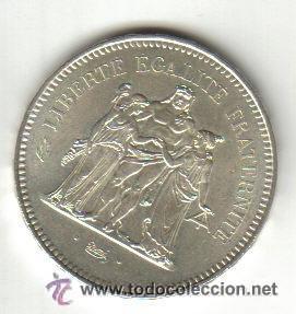 FRANCIA - MONEDA DE PLATA DE 50 FRANCOS 1979 SC (Numismática - Extranjeras - Europa)
