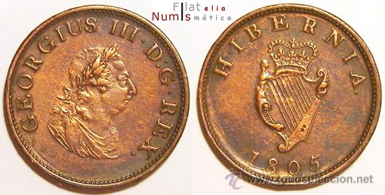Irlanda Hibernia 12 Penique 1805 Adm Comprar Monedas