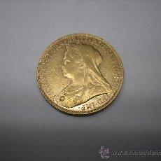 Monedas antiguas de Europa: 1 LIBRA DE ORO DE 1900. REINA VICTORIA DE GRAN BRETAÑA. Lote 31332678