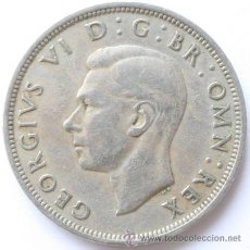 Monedas antiguas de Europa: MEDIA CORONA DE INGLATERRA DE GEORGE VI - HALF CROWN - 1947. Lote 31584420