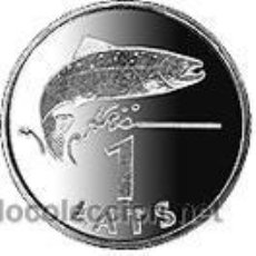 Monedas antiguas de Europa: LETONIA 2008 1 LATS SALMON. Lote 145012710
