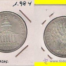 Monedas antiguas de Europa: MONEDA DE 100 FRANCOS DE FRANCIA DE 1984. PLATA. SIN CIRCULAR. REFORMA MONETARIA. (ME248).. Lote 32130582