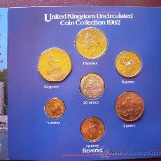 Monedas antiguas de Europa: CARTERA DE 7 PIEZAS, STRIKING COINS AT THE ROYAL MINT. INGLATERRA. AÑO 1982. Lote 32179923