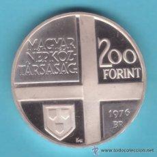 Monedas antiguas de Europa: PLATA 200 FORINT 1976 HUNGRIA MUNKACY MIHALY MAGYAR. Lote 32312739