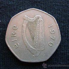 Monete antiche di Europa: IRLANDA 50 PENIQUES 1970. Lote 32636369