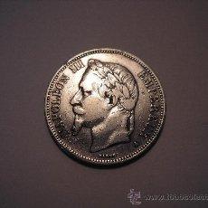 Monedas antiguas de Europa: 5 FRANCOS DE PLATA DE 1868 A. EMPERADOR ,NAPOLEÓN III. Lote 32690088
