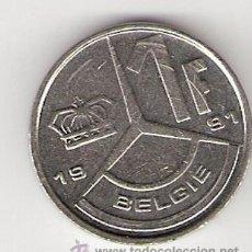 Monedas antiguas de Europa: 1 FRANCO - BÉLGICA 1991. Lote 32797981
