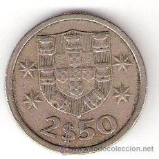 Monedas antiguas de Europa: 2,50 ESCUDOS PORTUGAL 1980. Lote 32801415