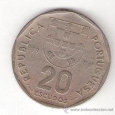 Monedas antiguas de Europa: 20 ESCUDOS - PORTUGAL 1986. Lote 32806652