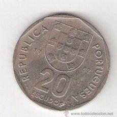 Monedas antiguas de Europa: 20 ESCUDOS - PORTUGAL 1987. Lote 32806666