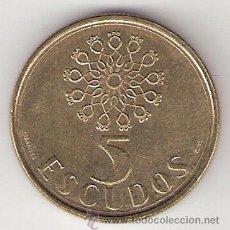 Monedas antiguas de Europa: 5 ESCUDOS - PORTUGAL 1987. Lote 32825557
