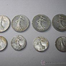 Monedas antiguas de Europa: LOTE . 4 DE 1 FRANCO Y 4 DE 1/2 FRANCO TODAS DE PLATA. FRANCIA. Lote 33226661