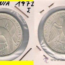 Monedas antiguas de Europa: ME313-ALEMANIA. 10 MARCOS. 1972. J. PLATA. EBC. (OLIMPIADAS 1972. MUNICH).. Lote 33227642