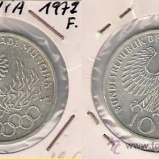 Monedas antiguas de Europa: ME375-ALEMANIA. 10 MARCOS. 1972. F. PLATA. EBC. (OLIMPIADAS MUNICH 1972).. Lote 33234758