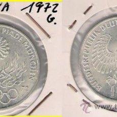 Monedas antiguas de Europa: ME404-ALEMANIA. 10 MARCOS. 1972. G. PLATA. EBC. (OLIMPIADAS MUNICH 1972).. Lote 33234828