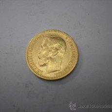 Monedas antiguas de Europa: 5 RUBLOS DE ORO DE 1898. ZAR DE RUSIA NICOLAS II. Lote 33358515